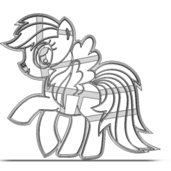 19-0571.png Download STL file Cookie cutter My Little Pony • 3D print object, CookieCutterBoss