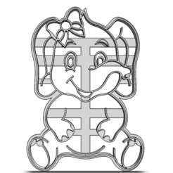 20-0073.png Download STL file Cookie cutter Elephant • 3D printer design, CookieCutterBoss