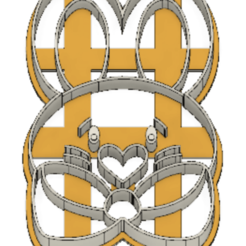 21-0058.png Download STL file Easter Cookie cutter Bunny • 3D printing object, CookieCutterBoss
