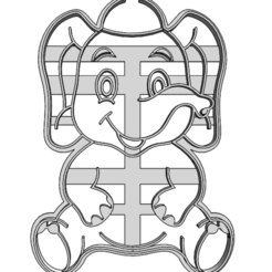20-0074.png Download STL file Cookie cutter Elephant • 3D printer design, CookieCutterBoss