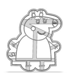 19-0369.png Télécharger fichier STL Coupeuse à biscuits Peppa Pig • Plan pour impression 3D, CookieCutterBoss