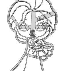 20-0077.png Download STL file Cookie cutter Frozen Elsa Doll • 3D print design, CookieCutterBoss