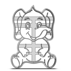 19-0361.png Download STL file Cookie cutter Elephant • 3D printer design, CookieCutterBoss