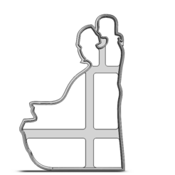 19-0390.png Télécharger fichier STL Couple de la Saint-Valentin • Plan à imprimer en 3D, CookieCutterBoss