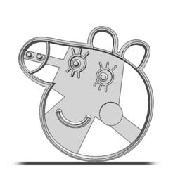 19-0321.png Télécharger fichier STL Coupeuse à biscuits Peppa Pig • Plan pour impression 3D, CookieCutterBoss