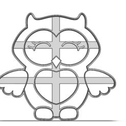 19-0469.png Download STL file Cookie cutter owl • 3D printing design, CookieCutterBoss