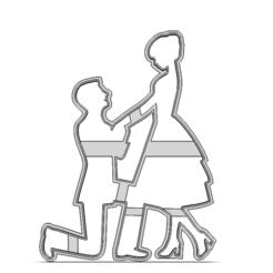 19-0386.png Télécharger fichier STL Couple de la Saint-Valentin • Plan à imprimer en 3D, CookieCutterBoss