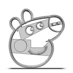 19-0319.png Télécharger fichier STL Coupeuse à biscuits Peppa Pig • Plan pour impression 3D, CookieCutterBoss