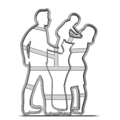 19-0692.png Download STL file Cookie cutter Family • Object to 3D print, CookieCutterBoss