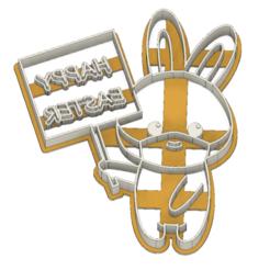 21-0079.png Download STL file Easter Cookie cutter Bunny corona • 3D printer template, CookieCutterBoss