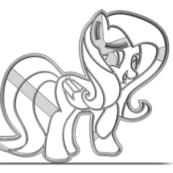 19-0572.png Download STL file Cookie cutter My Little Pony • 3D print object, CookieCutterBoss