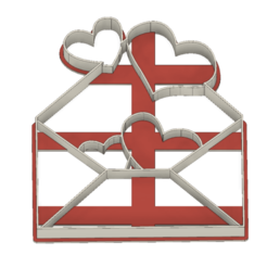 21-0103.png Download STL file Cookie cutter Valentine´s Day Love letter • 3D printer object, CookieCutterBoss