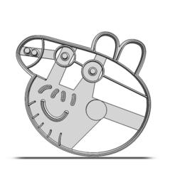 19-0320.png Télécharger fichier STL Coupeuse à biscuits Peppa Pig • Plan pour impression 3D, CookieCutterBoss