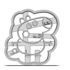 19-0371.png Télécharger fichier STL Coupeuse à biscuits Peppa Pig • Plan pour impression 3D, CookieCutterBoss