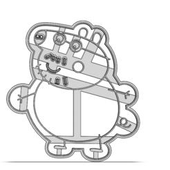 19-0368.png Télécharger fichier STL Coupeuse à biscuits Peppa Pig • Plan pour impression 3D, CookieCutterBoss