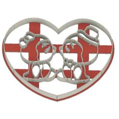 21-0108.png Télécharger fichier STL Découpeur de biscuits Saint-Valentin M. et Mme Pingouin • Plan à imprimer en 3D, CookieCutterBoss