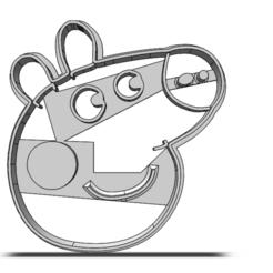 19-0322.png Télécharger fichier STL Coupeuse à biscuits Peppa Pig • Plan pour impression 3D, CookieCutterBoss