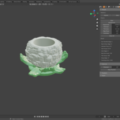 VeggieHolder_Cauliflower_01.png Download STL file Veggie Holder - Cauliflower • 3D print object, SitaroArtworks
