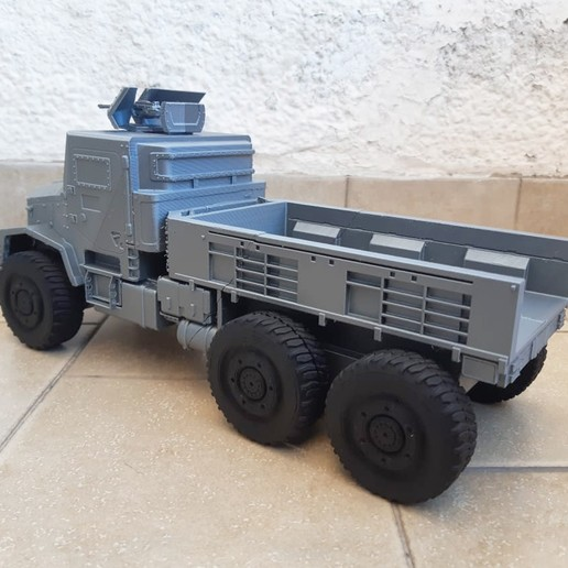 Image-4.jpg Download STL file 3D Printable Call of Duty Warzone Truck • 3D printable object, jorgeciprian