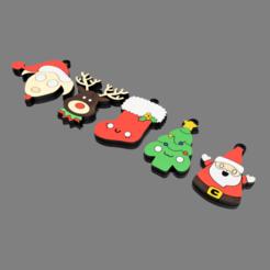 LLaveros_Navidad_2020-Nov-30_09-38-22PM-000_CustomizedView27043986664.png Télécharger fichier STL Porte-clés/Décorations de Noël x5 • Modèle à imprimer en 3D, nr_modelos3d