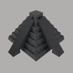 Torre_de_mexico_2021-Jan-15_06-23-51AM-000_CustomizedView53086823852.png Download STL file The Kukulkan Temple • 3D printer design, nr_modelos3d