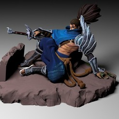 yasuo 01.jpg Download STL file Yasuo League of Legends - Collectible • 3D print template, Ryuk_Saitama