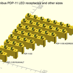 PDP-11_LED_receptacles_and_other_sizes.png Download free SCAD file DEC PDP-11 Unibus and Qbus LED mounting receptacles • Model to 3D print, 1944GPW
