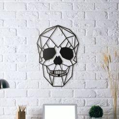 351307efd46259d5c9d8a0740cdd7009_preview_featured.jpg Télécharger fichier STL gratuit Sculpture de la paroi du crâne 2D • Design pour impression 3D, dogukankara