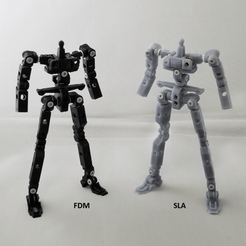 side-by-side 1.png Download STL file X-Frame (Articulated Action Frame for Mecha) • 3D print design, chiz-m