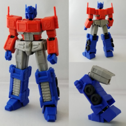 OP1.png Download STL file X-Frame Armor #2 (Inspired by G1 Optimus Prime, non-transformable) • 3D printing model, chiz-m
