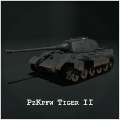 Thumbnail 2.jpg Télécharger fichier STL Panzerkampfwagen VI Tiger Ausf. B - Tigre II • Design pour impression 3D, JEROLPOA