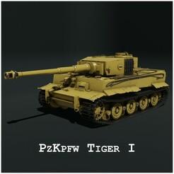 Thumbnail 2.jpg Télécharger fichier STL Panzerkampfwagen VI Tiger Ausf, E - Tiger I • Objet pour impression 3D, JEROLPOA