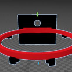Con tela.png Download STL file Basketball hoop (2 models) • 3D printing model, SergioGomez