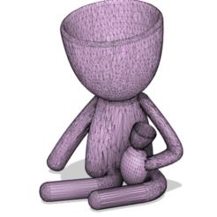 mama con guagua.png Download STL file Robert plant mum with baby • 3D printer design, rflowersg