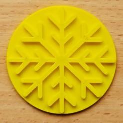 Snowflake Embosser.jpg Download STL file Christmas Snowflake Embosser • 3D printer object, Rowley24