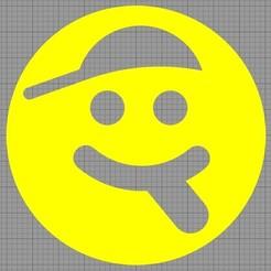 Smile.jpg Télécharger fichier STL Pochoir Gâteau • Objet à imprimer en 3D, MAKOSHOW
