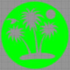 île Palmiers.jpg Télécharger fichier STL Pochoir Gâteau • Objet à imprimer en 3D, MAKOSHOW