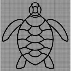 Tortue.png Télécharger fichier STL Applique Murale Tortue • Plan imprimable en 3D, MAKOSHOW