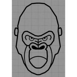 Gorille.png Télécharger fichier STL Applique Murale Gorille • Design pour imprimante 3D, MAKOSHOW