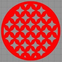 Etoiles Multiples.jpg Télécharger fichier STL Pochoir Gâteau • Objet à imprimer en 3D, MAKOSHOW