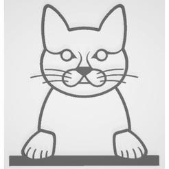 Chat.png Télécharger fichier STL Applique Murale Chat • Design à imprimer en 3D, MAKOSHOW