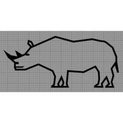 Rhinocéros.png Télécharger fichier STL Applique Murale Rhinocéros • Plan imprimable en 3D, MAKOSHOW
