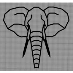 Eléphant.png Télécharger fichier STL Applique murale éléphant • Design imprimable en 3D, MAKOSHOW
