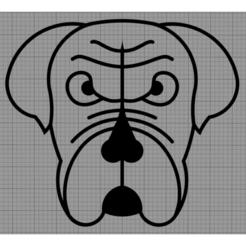 Chien.png Télécharger fichier STL Applique Murale Chien • Objet imprimable en 3D, MAKOSHOW