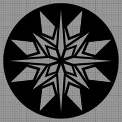 Etoile Noël.jpg Télécharger fichier STL Pochoir Gâteau • Objet à imprimer en 3D, MAKOSHOW