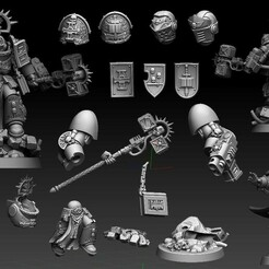 BC Cult.jpg Download STL file Bro Lib in spacey armor and gunzzzz • 3D printing template, DMGMinis