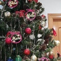 20191224_155130.jpg Download STL file Personalized Christmas tree ball • 3D print design, tts_mateo