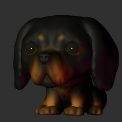 34mascota.jpg Download STL file Chibi Dog • 3D printable template, Pishonsito