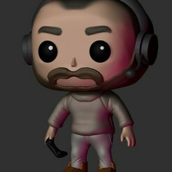 2304.jpg Download STL file Gamer Guy Funko • 3D print model, Pishonsito