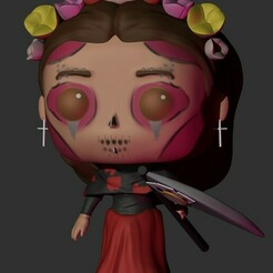 2405.jpg Download STL file Catrina Reaper Funko • 3D printing template, Pishonsito